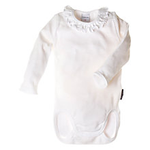 Buy Polarn O. Pyret Frill Bodysuit, White Online at johnlewis.com