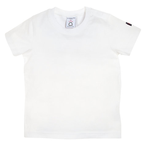 Buy Polarn O. Pyret Organic Cotton Baby T-Shirt, White Online at johnlewis.com