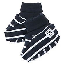 Buy Polarn O. Pyret Striped Baby Booties, Navy Online at johnlewis.com