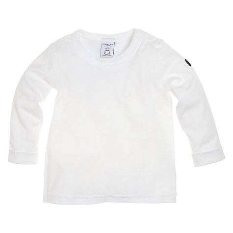 Buy Polarn O. Pyret Classic Ribbed Top, White Online at johnlewis.com