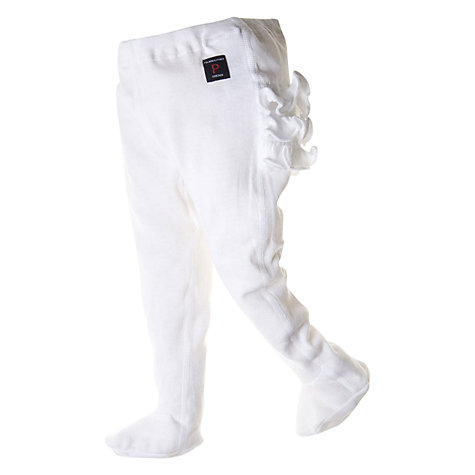 Buy Polarn O. Pyret Frill Tights, White Online at johnlewis.com