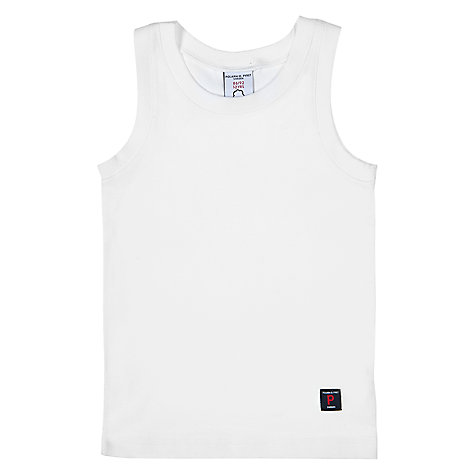 Buy Polarn O. Pyret Vest Top, White Online at johnlewis.com