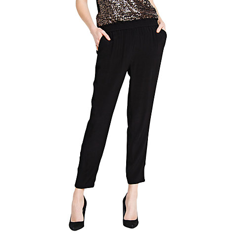 Buy Mango Flowing Trousers, Black Online at johnlewis.com