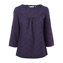 Buy White Stuff Iona Top, Dark Mulberry Online at johnlewis.com