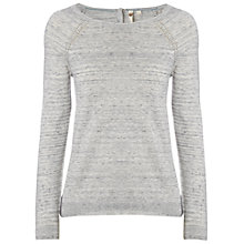 Buy White Stuff Summer Light Knitted Top, Silver Grey Online at johnlewis.com