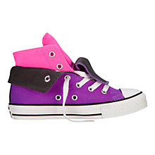 Buy Converse Chuck Taylor All Star Two Fold Hi Top Trainers, Pink/Purple Online at johnlewis.com