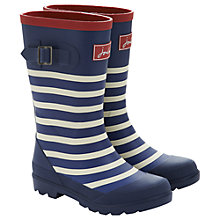 Buy Little Joule Striped Wellington Boots, Navy Online at johnlewis.com