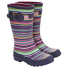 Buy Little Joule Striped Wellington Boots, Multi Online at johnlewis.com
