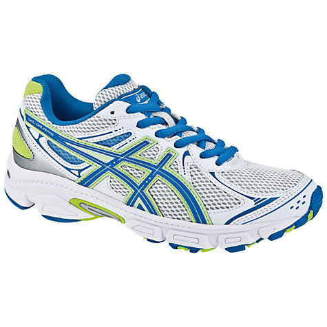 Buy Asics Gel Galaxy 6 Trainers, White/Blue/Green Online at johnlewis.com