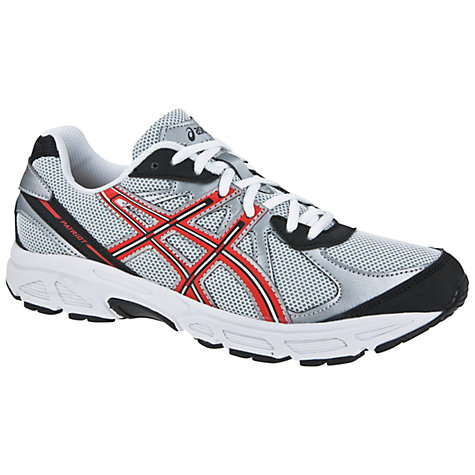 Buy Asics Patriot 6 Running Trainers, White/Red/Silver Online at johnlewis.com