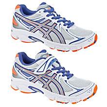 Buy Asics Gel Galaxy 6 Trainers, White/Silver/Orange Online at johnlewis.com