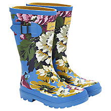 Buy Little Joule Floral Wellington Boots, Blue/Multi Online at johnlewis.com