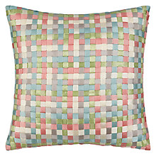 Buy Jigsaw Basket Weave Cushion, Multi Online at johnlewis.com