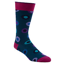 Buy Duchamp Dot in Spot Socks, Blue Online at johnlewis.com