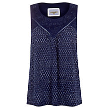Buy Jigsaw Geometric Print Vest Top, Navy Online at johnlewis.com