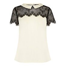 Buy Oasis Lace Collar Top Online at johnlewis.com
