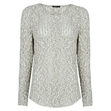 Buy Mango Metallic Sweater, Grey Online at johnlewis.com