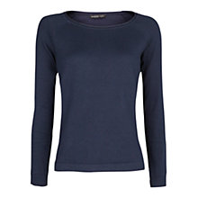 Buy Mango Raglan Sleeves Sweater, Navy Online at johnlewis.com