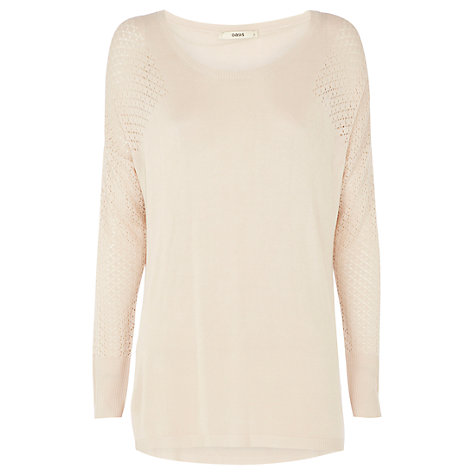 Buy Oasis Airtex Fine Knitted Jumper, Off White Online at johnlewis.com