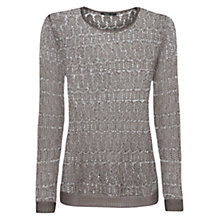 Buy Mango Knit Jumper, Light Pastel Brown Online at johnlewis.com
