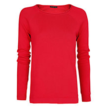 Buy Mango Raglan Sleeve Jumper, Medium Pink Online at johnlewis.com
