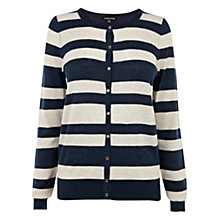 Buy Warehouse Stripe Crew Cardigan Online at johnlewis.com
