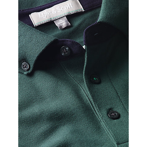 Buy Lyle & Scott Golf Club Tipped Polo Shirt, Green Online at johnlewis.com