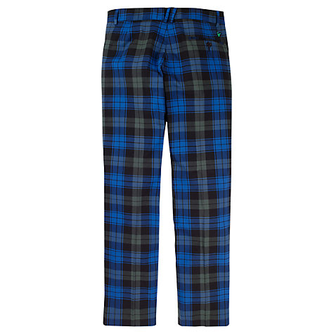 Buy Lyle & Scott Golf Check Trousers, Navy Online at johnlewis.com