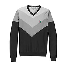 Buy Lyle & Scott Golf Ombre V-Neck Jumper, Grey Online at johnlewis.com