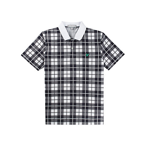 Buy Lyle & Scott Golf Check Polo Shirt, White/Black Online at johnlewis.com