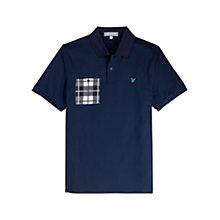 Buy Lyle & Scott Golf Check Pocket Polo Shirt, Navy Online at johnlewis.com