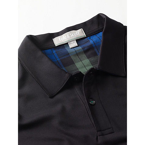 Buy Lyle & Scott Golf Check Collar Polo Shirt Online at johnlewis.com