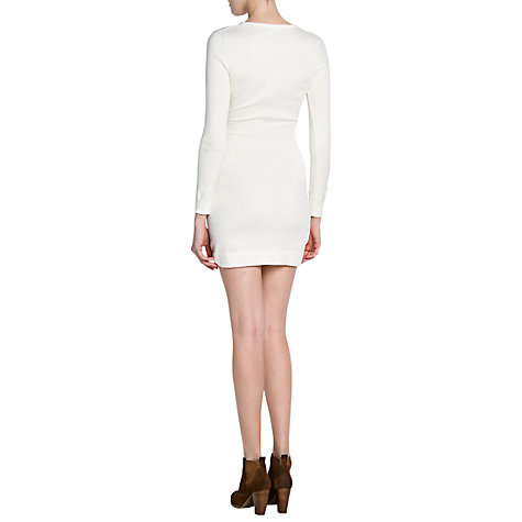 Buy Mango Cotton Mix Knitted Dress Online at johnlewis.com