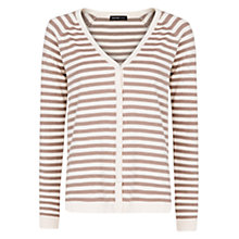 Buy Mango Striped Cardigan, Light Pastel Brown Online at johnlewis.com