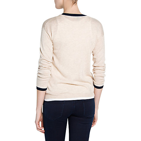 Buy Mango Contrast Trim Cardigan Online at johnlewis.com