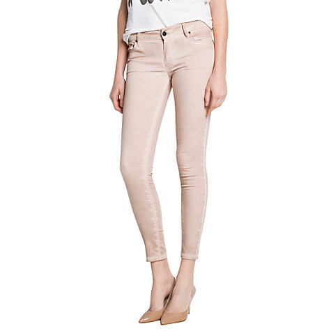 Buy Mango Faded Slim Jeans, Medium Pink Online at johnlewis.com