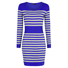 Buy Mango Striped Cotton Mix Knitted Dress Online at johnlewis.com