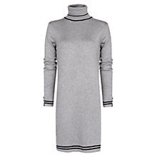 Buy Mango Contrast Trim Dress, Medium Grey Online at johnlewis.com