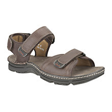 Buy Clarks Alt Part Active Air Sandals, Dark Brown Online at johnlewis.com