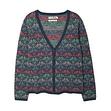 Buy Seasalt Matilda Cardigan, Bird Herringbone Granite Online at johnlewis.com