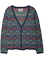 Seasalt Matilda Cardigan, Bird Herringbone Granite