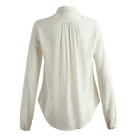 Buy Joules Myelle Ruffle Blouse, Creme Online at johnlewis.com