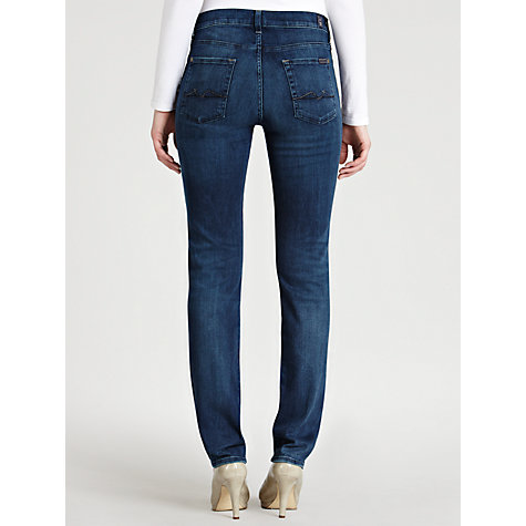 Buy 7 For All Mankind Rozie High Waist Jeans, Blue Online at johnlewis.com
