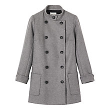 Buy Toast Double Breasted Coat, Grey Online at johnlewis.com