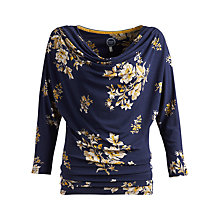 Buy Joules Alisha Floral Jersey Cowl Neck Top, French Navy Bouquet Online at johnlewis.com
