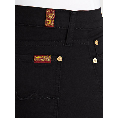Buy 7 For All Mankind The Skinny Jeans, Black Online at johnlewis.com