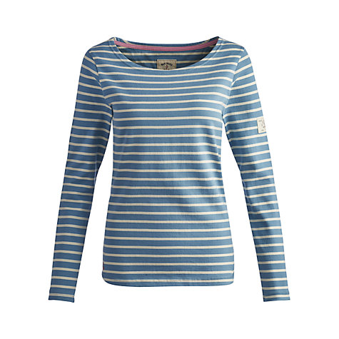 Buy Joules Harbour Stripe Top, Aqua Online at johnlewis.com