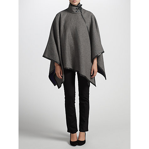 Buy Lauren by Ralph Lauren Houndstooth Wool Cape, Black/Cream Online at johnlewis.com