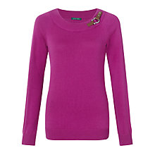 Buy Lauren by Ralph Lauren Buckled Boatneck Top Online at johnlewis.com