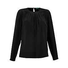 Buy Lauren by Ralph Lauren Finn Long Sleeved Blouse, Black Online at johnlewis.com
